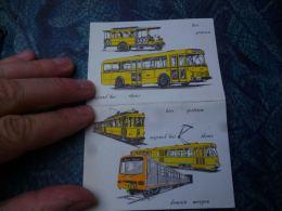 AA3-2 LC138  Petit Calendrier STIB 1973 Bus Tram - Calendriers