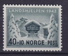 Norway 1943 Mi. 294     40 Ø + 10 Ø Norwegische Landeshilfe Naturalienspeicher MH* - Norwegen