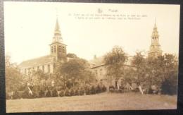 Postel (Mol) : Noord-Westen Van De Kerk En Deel Der Abdij // L´église Et Une Partie De L´abbaye  (1857) - Mol