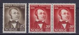 Norway 1945 Mi. 304-05     10 Ø & 15 Ø Henrik Wergeland MNH** - Norwegen