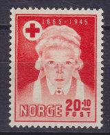 Norway 1945 Mi. 307     20 Ø + 10 Ø Norwegischer Rotes Kreuz Red Cross Croix Rouge Cruz Roja MNH** - Norwegen