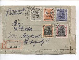Stamps Germania Surcharged Poczla-Polska Registered Cober Posen 19/8/19 To Poznam PR2392 - ....-1919 Provisional Government