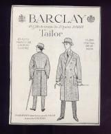 pub papierVETEMENTS HOMMES BARCLAY PARDESSUS TAILOR ANNEES 20