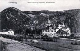 SEMMERING (NÖ) / Hotel Erzherzog Johann Mit Sonnwendstein, Gel.1908, Seltene Spendemarke, - Semmering