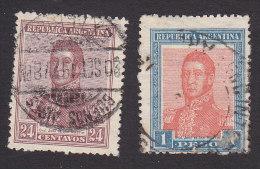 Argentina, Scott #240, 243, Used, Jose De San Martin, Issued 1917 - Usati