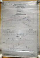 BY BUREAU OF JEAN JADOT - CHINA 1898 VINTAGE LOT OF PLANNING CONSTRUCTION RAILWAY LINE PEKING - HANKOW see explanation