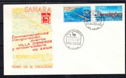 SAHARA 1967 FDC SOBRE 1er. DIA  INSTALACIONES PORTUARIAS EDIFIL Nº 260/261  CN3069 - Sahara Español