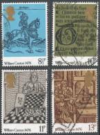 Great Britain. 1976 500th Anniv Of British Printing. Used Complete Set. SG 1014-1017 - 1952-.... (Elizabeth II)