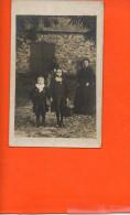 Carte Photo à Identifier - Groupe De Personnes Femme Enfants - Cartes Postales
