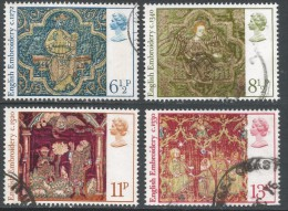 Great Britain. 1976 Christmas. English Medieval Embroidery. Used Complete Set. SG 1018-1021 - 1952-.... (Elizabeth II)