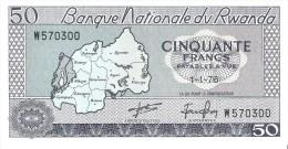 Rwanda - Pick 7 - 50 Francs 1976 - Unc - Rwanda