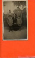 Carte Photo à Identifier - Photo De Famille - Enfants Couple - A Identifier