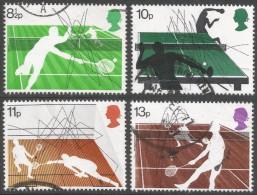 Great Britain. 1977 Racket Sports. Used Complete Set. SG 1022-1025 - 1952-.... (Elizabeth II)