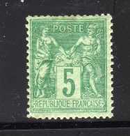 SAGE YT 75 NEUF ** SANS CHARNIERE - 1876-1898 Sage (Tipo II)