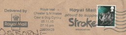 2015 Chester GB DRAGON Stamps COVER SLOGAN Pmk STROKE ASSOCIATION ROYAL MAIL SUPPORT Health Medicine - 1952-.... (Elizabeth II)