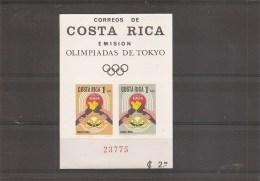 JO De Tokyo -1964 ( BF 7 XXX -MNH- Du Costa-Rica ) - Verano 1964: Tokio