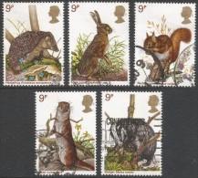 Great Britain. 1977 British Wildlife. Used Complete Set. SG 1039-1043 - 1952-.... (Elizabeth II)