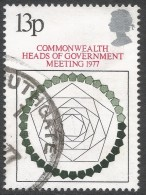 Great Britain. 1977 Commonwealth Heads Of Government Meeting, London 13p Used. SG 1038 - 1952-.... (Elizabeth II)