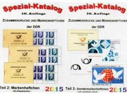 DDR Katalog Teil 2+3 Markenheftchen/SMH 2015 Neu 50€ RICHTER Heftchen Abarten Booklet+error Special Catalogue Of Germany - Télécartes