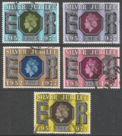 Great Britain. 1977 Silver Jubilee. Used Complete Set. SG 1033-1037 - Used Stamps