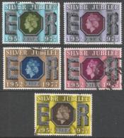 Great Britain. 1977 Silver Jubilee. Used Complete Set. SG 1033-1037 - 1952-.... (Elizabeth II)