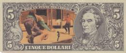 BANCONOTE - GRANDI RACCOLTE DI FIGURINE /  EDIS TORINO - ANNO 1972 SERIE WESTERN _ 5 DOLLARI VARIANTE - Figurines