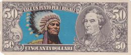 BANCONOTE - GRANDI RACCOLTE DI FIGURINE /  EDIS TORINO - ANNO 1972 SERIE WESTERN _ 50 DOLLARI - Figurines