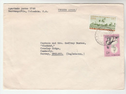1964 Barranquilla COLOMBIA COVER Stamps AGRICULTURE Farming Etc To GB - Colombia