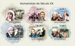 Mozambico 2011, Mother Teresa, mandela, M. L. King, 6val in BF