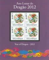 Mozambico 2011, Year of the dragon, 4val in BF
