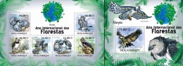 Mozambico 2011, Year of the forest, birds, Harpy, 6val in BF +BF