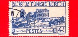 TUNISIA - Usato - 1945 - Anfiteatro Di El Jem - Thysdrus - 4 - Oblitérés