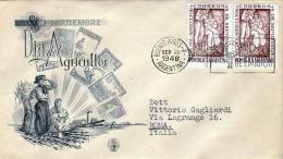 ARGENTINA 1948 / FDC 2 Fach Frankiert - Argentinien