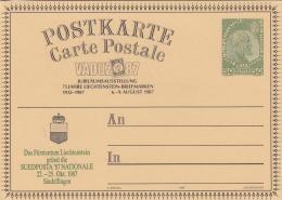 LIECHTENSTEIN VADUZ 1987 / 50 Rappen Ganzsache Auf Jubiläumskarte - Briefe U. Dokumente
