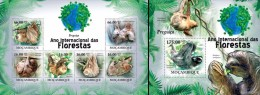 Mozambico 2011, Year of the forest, sloth, 6val in BF +BF