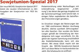 Sowjetunion Spezial Briefmarken Michel Katalog 2017 Neu 150€ Porto/Lokal/Gebühren-Marken Special Catalogues USSR CC - Literatur & Software