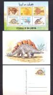 Libya  1996 – Minisheet + Postcard - Fossils In Libya - Libië