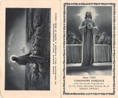 """04439 """"BESANA BRIANZA (MB) - PARR. S.S. PIETRO MARCELLINO ERASMO - 1933 - RICORDO COMUN. PASQ."""" IMMAGINE RELIG. ORIGIN. - Santini"""