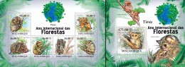 Mozambico 2011, Year of the forest, tarsier, 6val in BF +BF