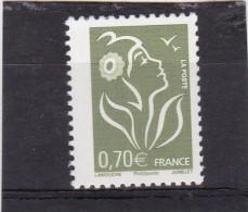 N° 3736 Yvert & Tellier, 3957 ( A ) Dallay, 0,70 Jaune-olive, Bande Phosphorescente à Gauche Au Lieu De Droite - Curiosità: 2000-09  Nuovi