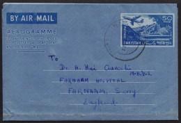 PAKISTAN Postal History - 50 Paisa Old Bengali Aerogramme Used From ISLAMABAD
