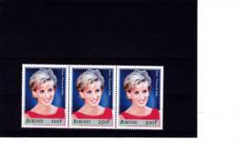 [X] Triptyque ** Burundi Lady Diana Lady Di 2007 - Burundi