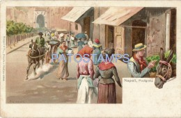 23279 ITALY NAPOLI CAMPANIA ART COSTUMES PIEDIGROTTA  POSTAL POSTCARD - Italy