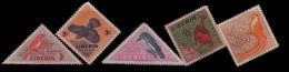 E) 1953 LIBERIA, BIRDS SET, MNH - Liberia