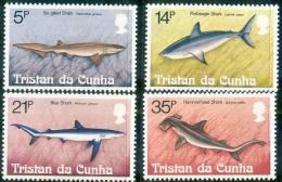 Tristan Da Cunha 1982 Set/4 Ocean Fish #302-5 - Tristan Da Cunha