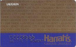 Harrah´s Casino Laughlin NV 2nd Issue Slot Card - Casino Cards