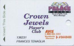 Palace Casino Biloxi MS 1st Issue Slot Card - Casino Cards