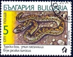 Snake, Turkish Javelin Sandboa (Eryx Jaculus Turcicus), Bulgaria Stamp SC#3491 Used - Malawi (1964-...)