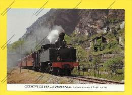 CPM 06 CHEMIN DE FER DE PROVENCE LE TRAIN A VAPEUR A TOUËT Sur VAR - Stations - Met Treinen