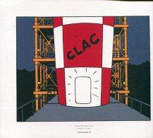 Magnifique  Serigraphie  Ou Lithographie  Ex Libris  24x19   Cm  Objectif Lune - Ex-libris